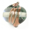 Glass Lamp Bead 15x14mm Twister Crystal/Bronze